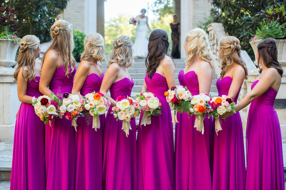 Fuchsia Bridesmaids
