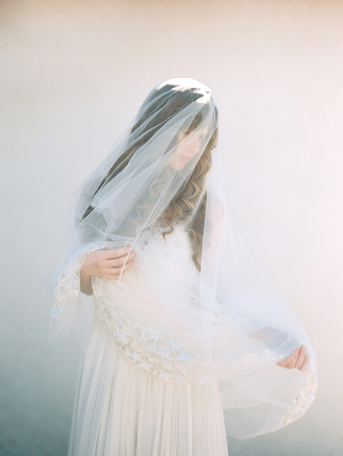 Embroidered Chapel Length Veil