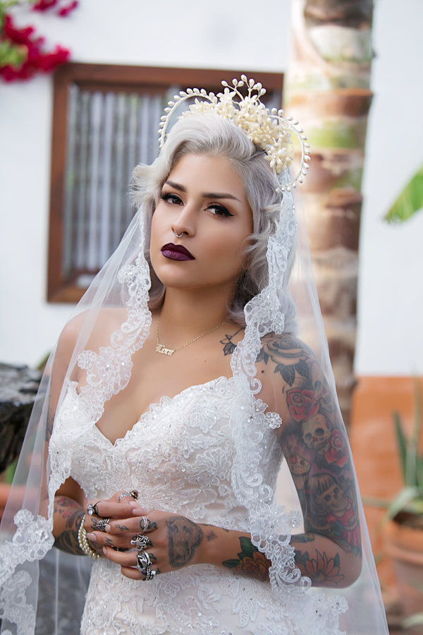 bride with gray hair