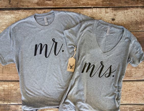 matching bride and groom shirts