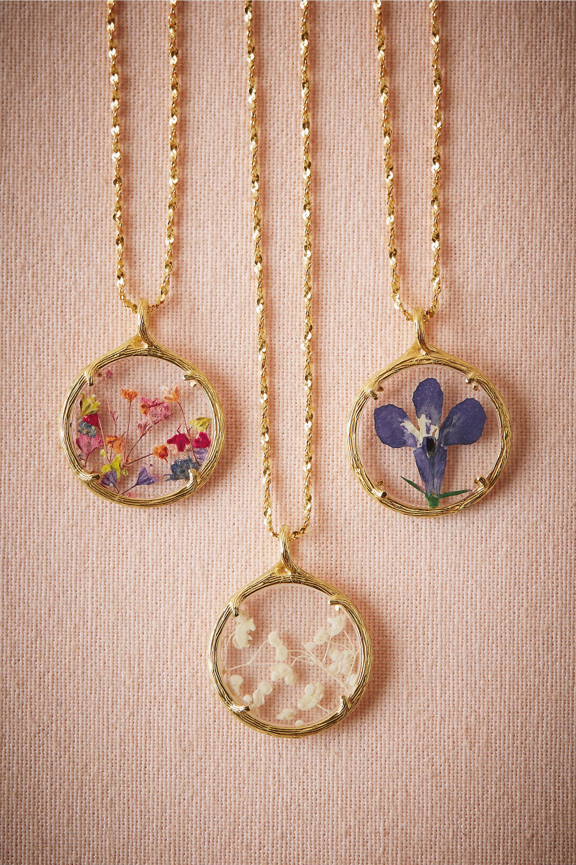 Pressed Flowers Pendants