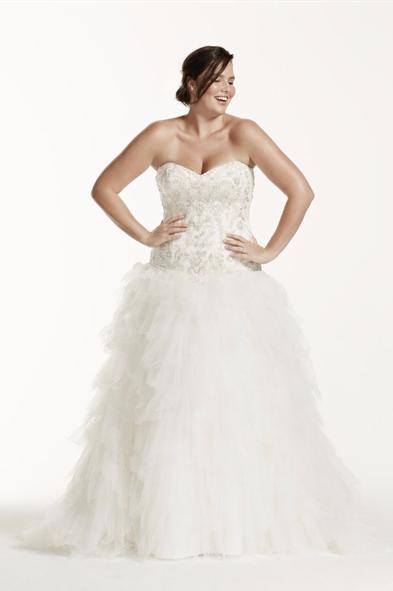 Ballgown plus-size wedding dress