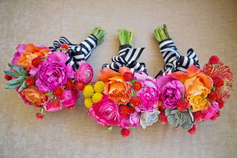 striped bouquet ribbons