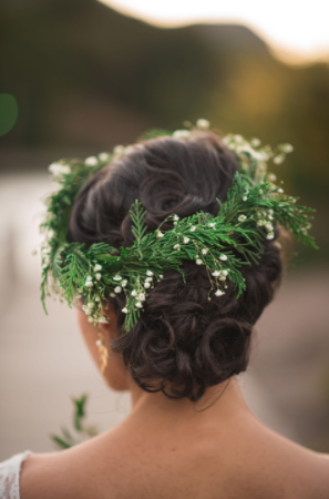evergreen floral crown