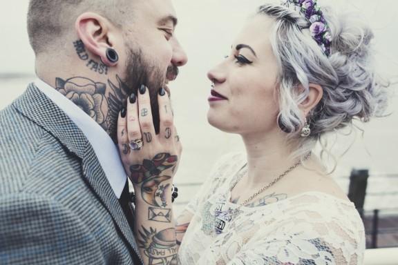 bride with lavender hair