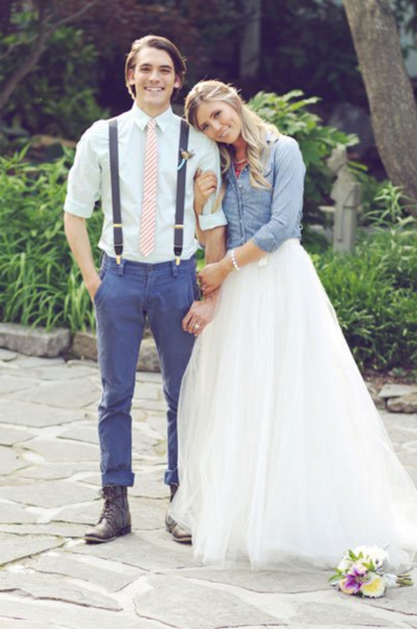 bride in chambray