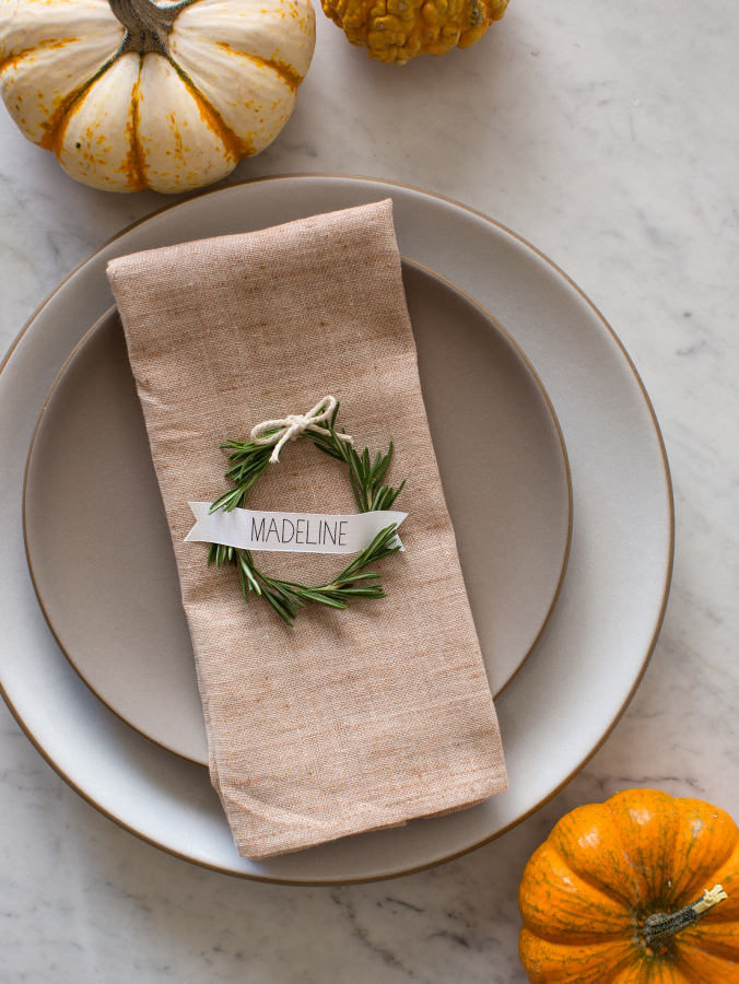 Wreath Seating Cards