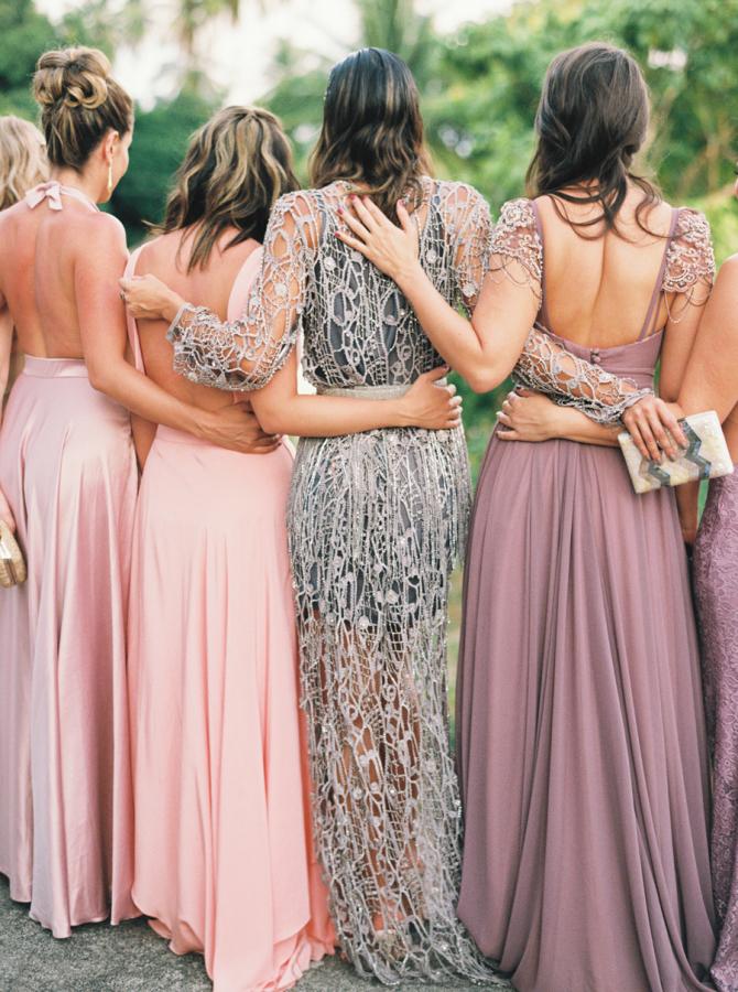 Mismatched Bridesmaid's Dresses