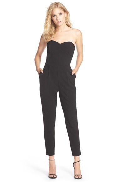trendy black jumpsuit