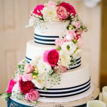striped cake decor