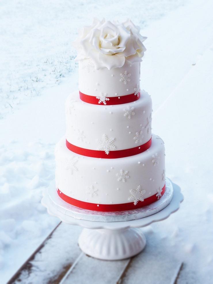 white floral cake topper