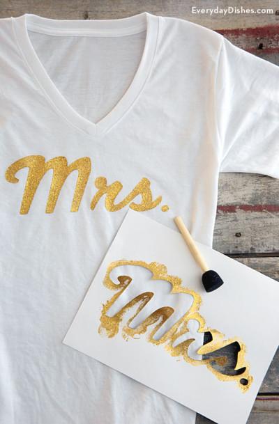 Easy DIY Mrs. t shirt