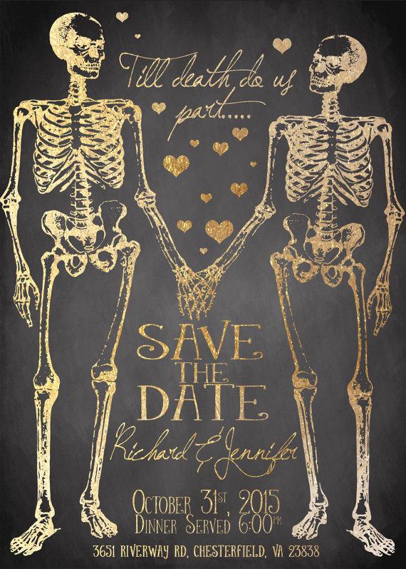 skeleton save the dates