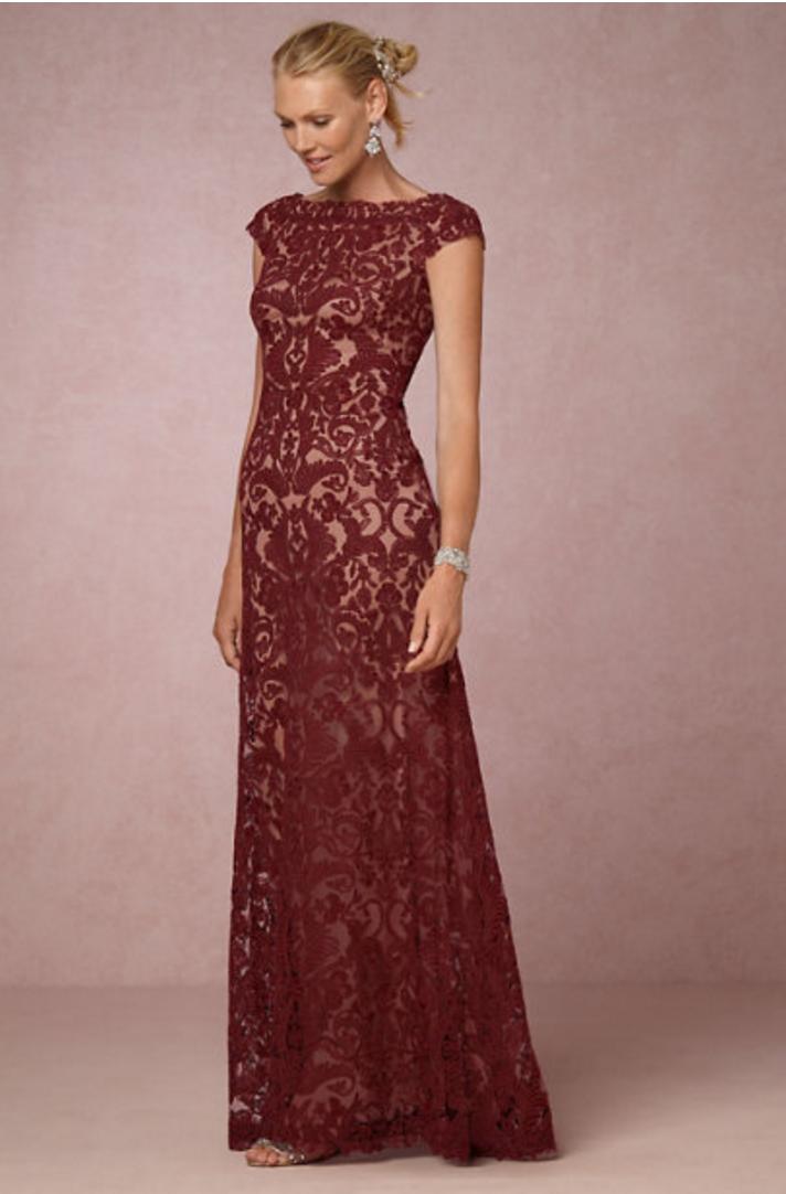 marsala MOB dress