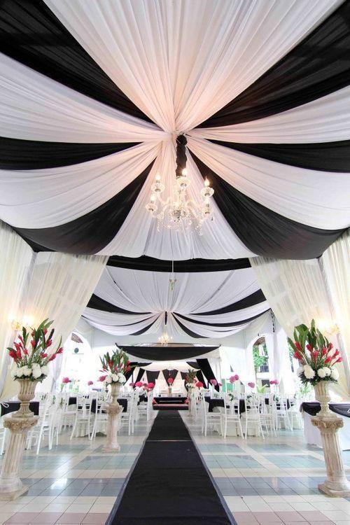 striped ceiling decor