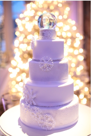 snowglobe cake topper