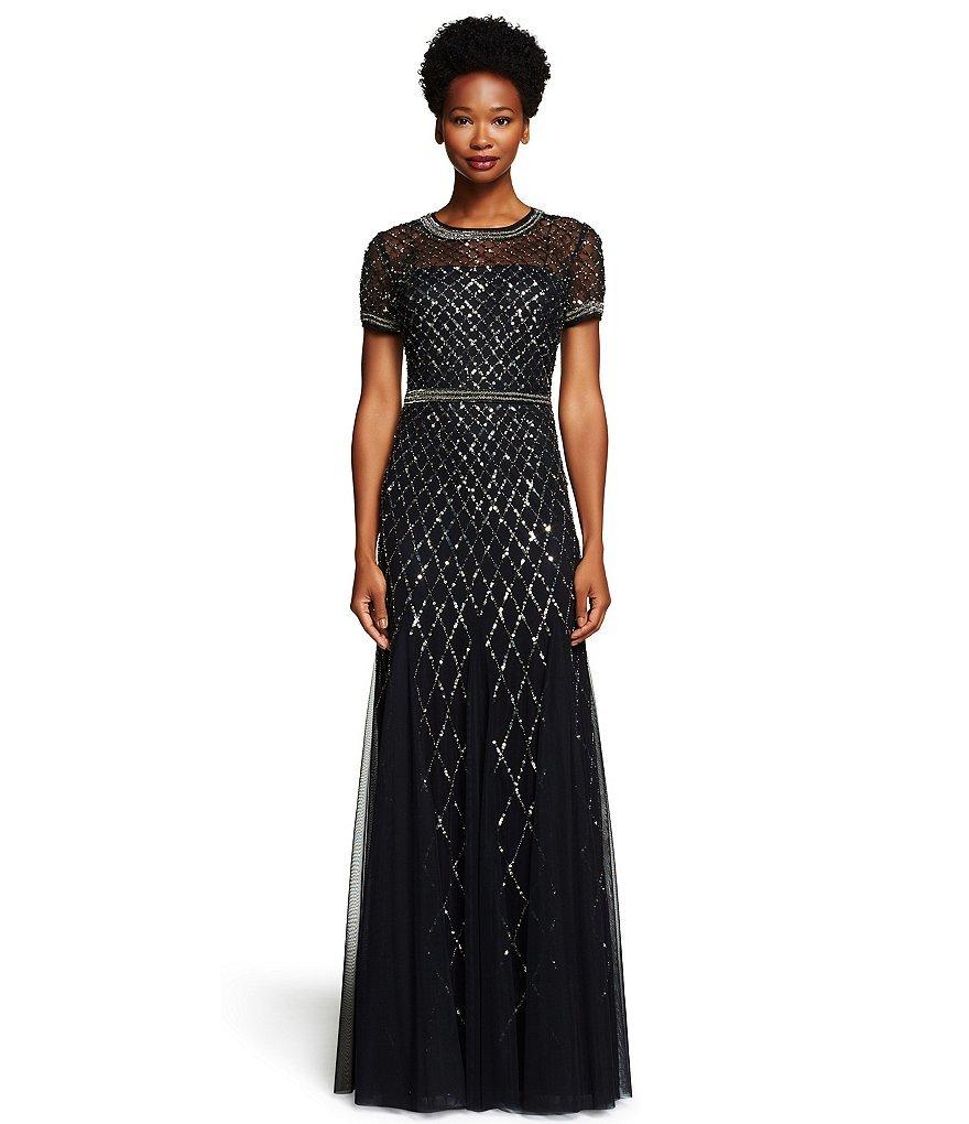 metallic MOB dress