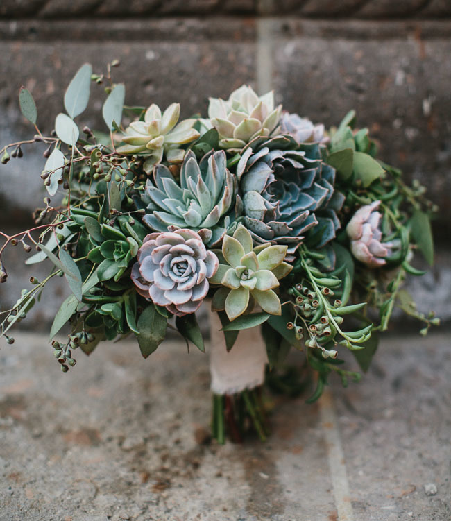succulent winter bouquet