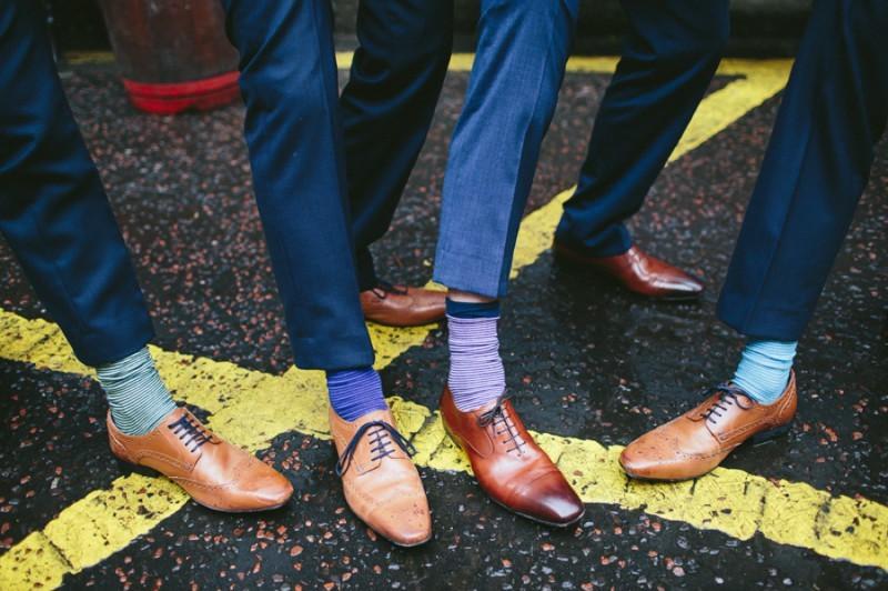 Summer wedding socks