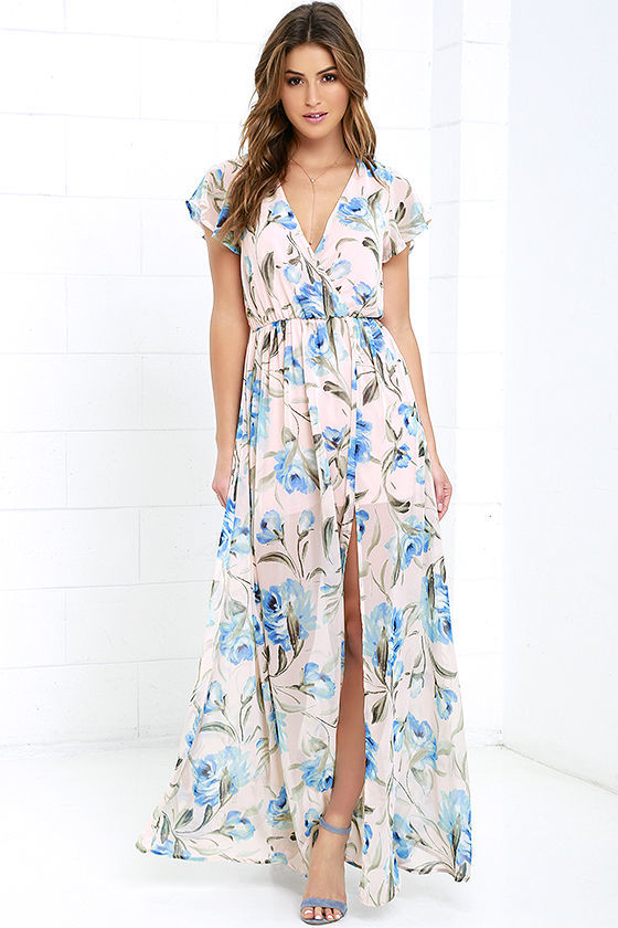 print bridesmaid dress