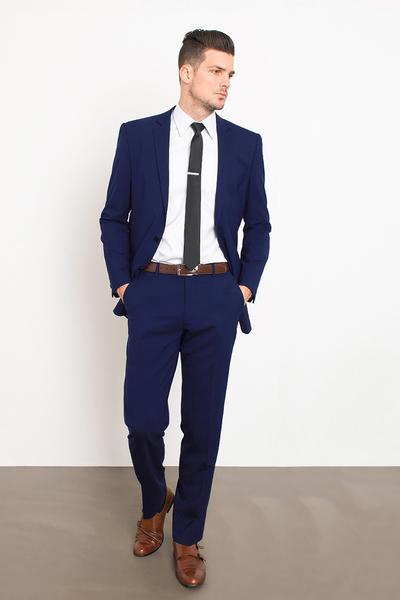 classic navy suit