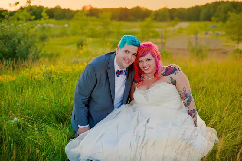 dyed hair on couple