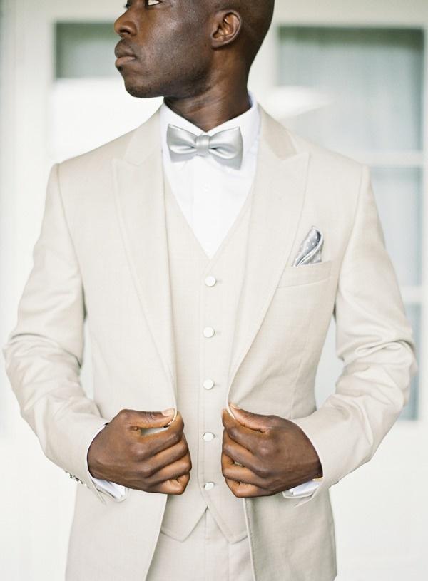 Summer wedding cream suit
