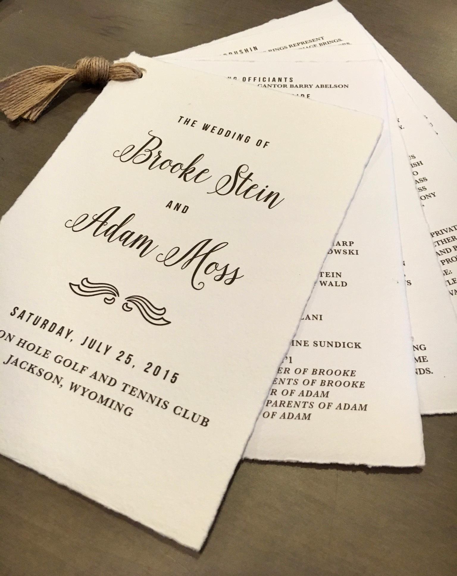 15 Unique Wedding Program Ideas For