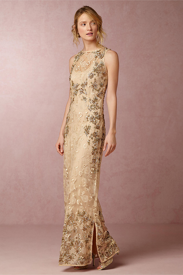 Gold Mother Of The Bride Dress