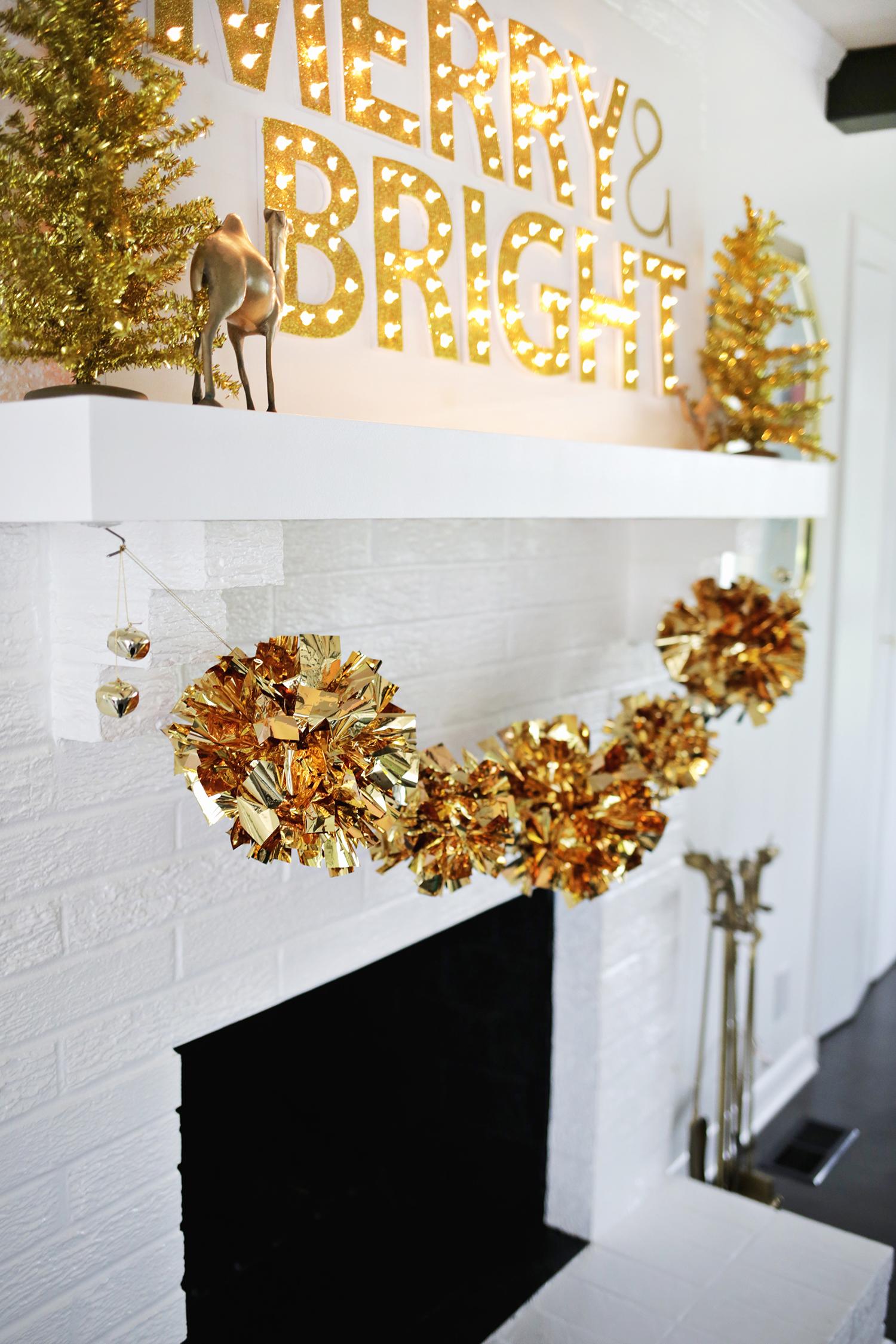 Gold mylar garland