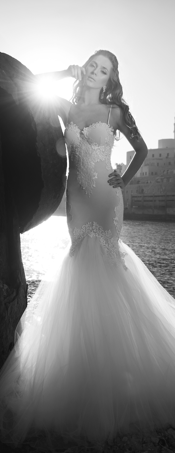 tulle bottom wedding dress