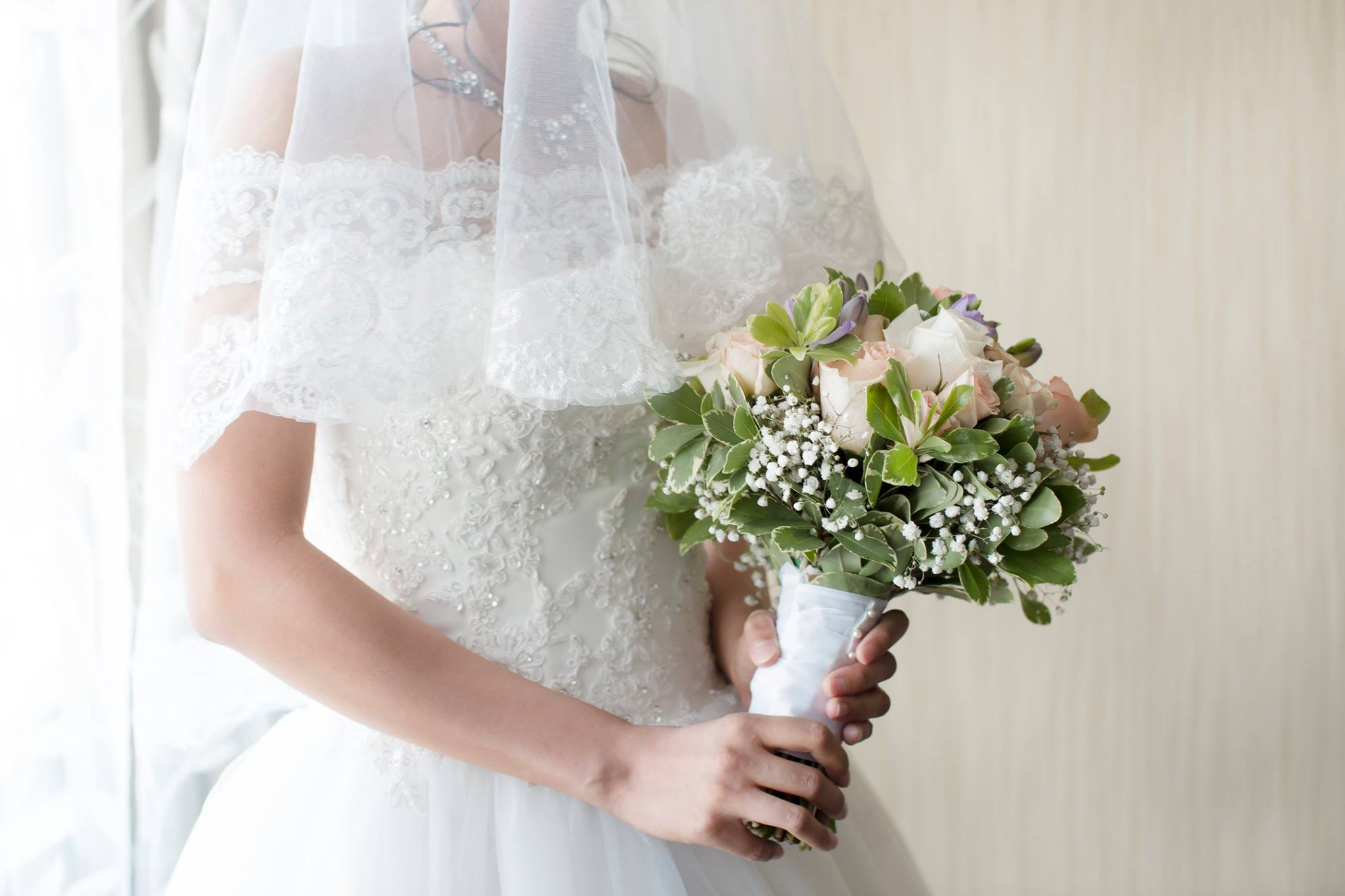 off the shoulder princess wedding dress