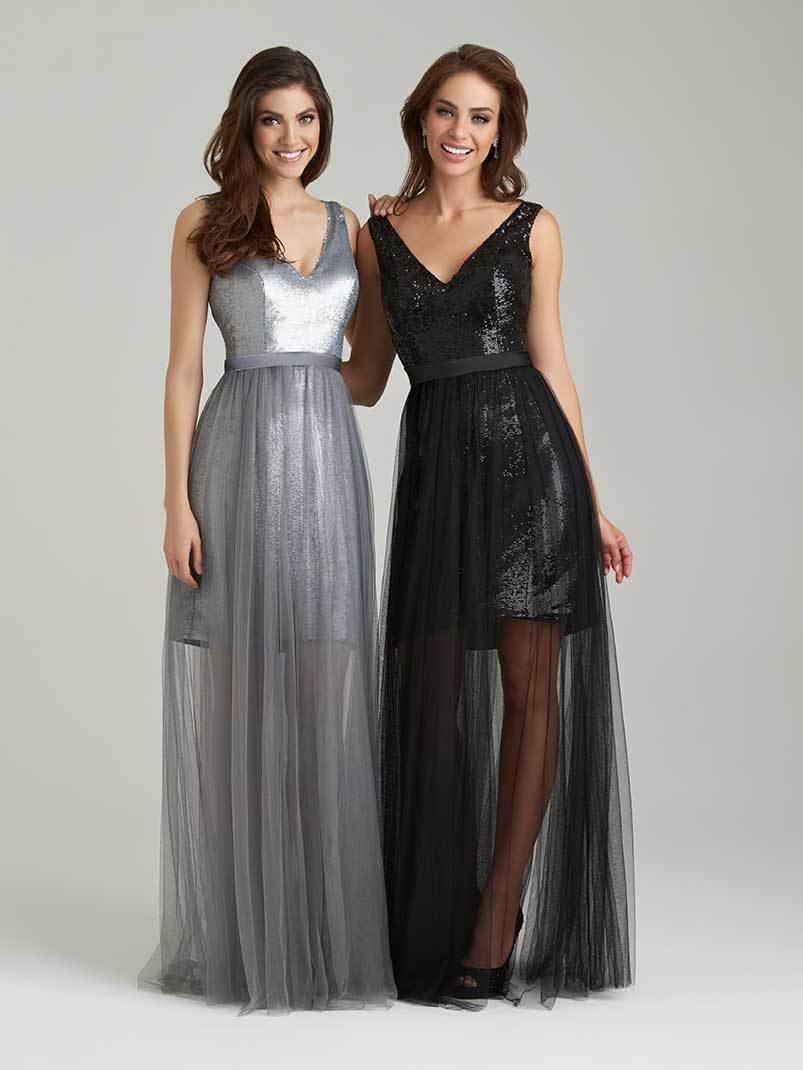 tulle overlay dresses