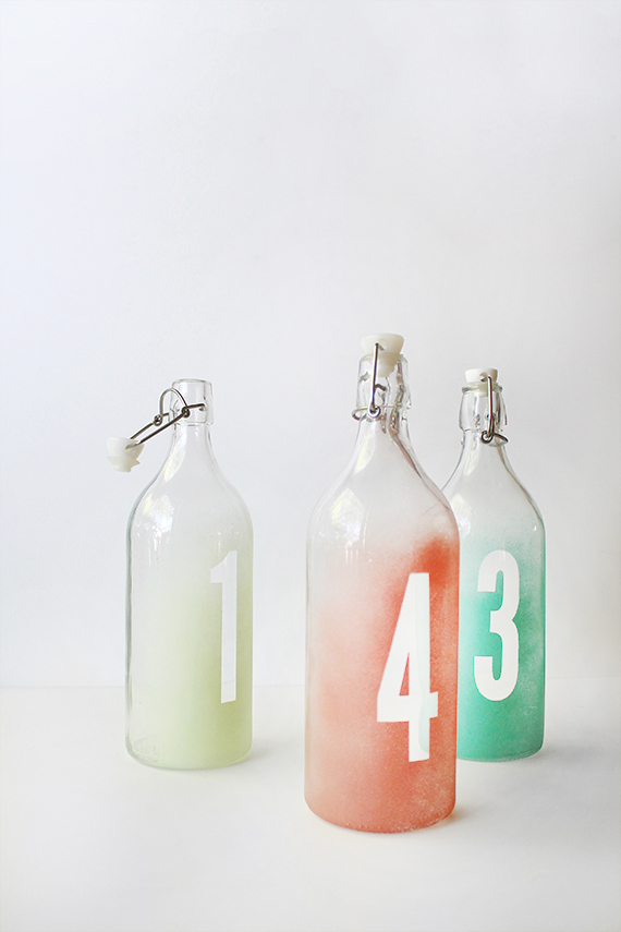 DIY Wedding Table Numbers via Almost Makes Perfect