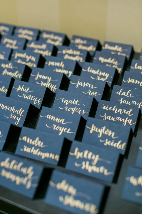 navy placecards