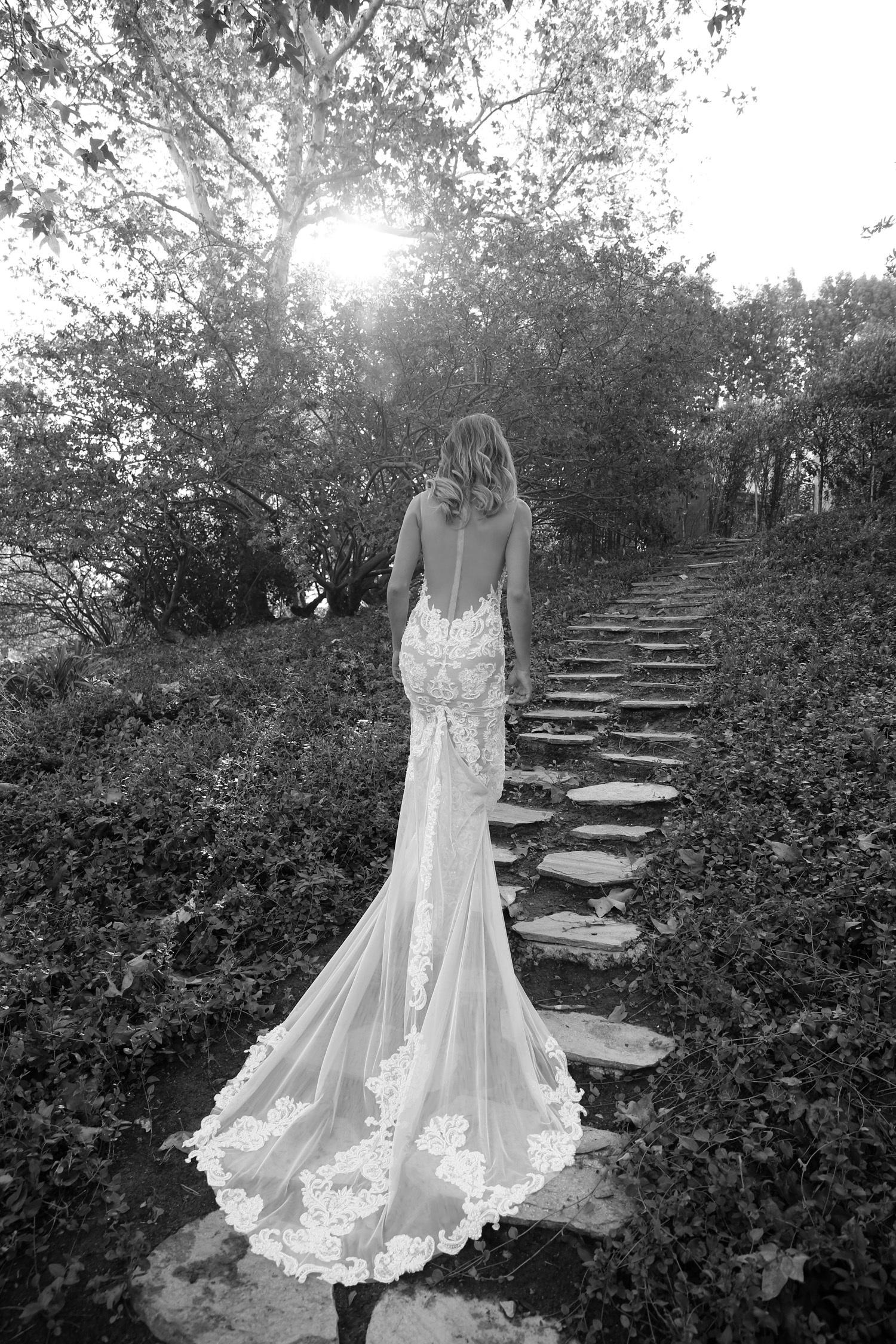 sheer back dress