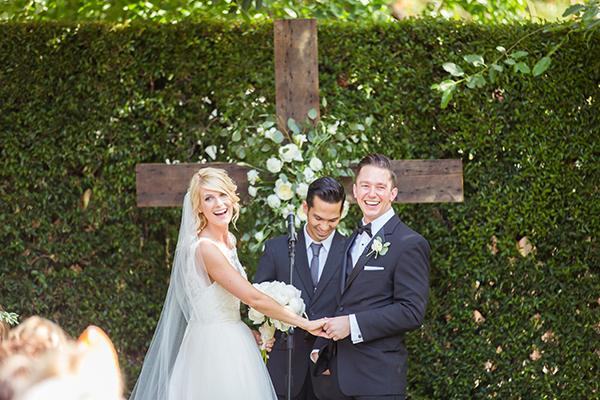 outdoor religous wedding