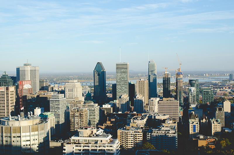 Montreal Quebec skyline