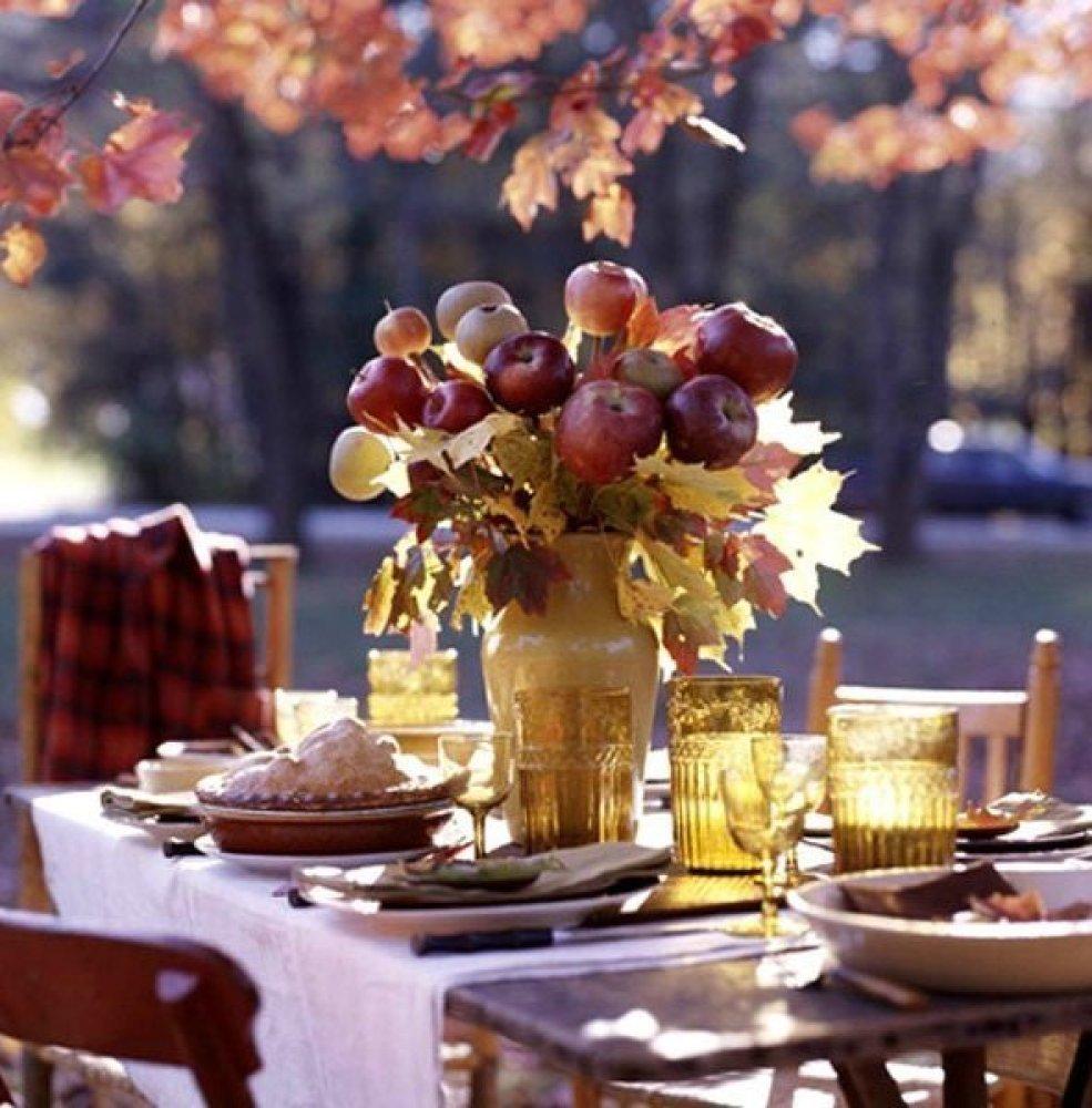 Apple and Leaf Harvest Arrangement