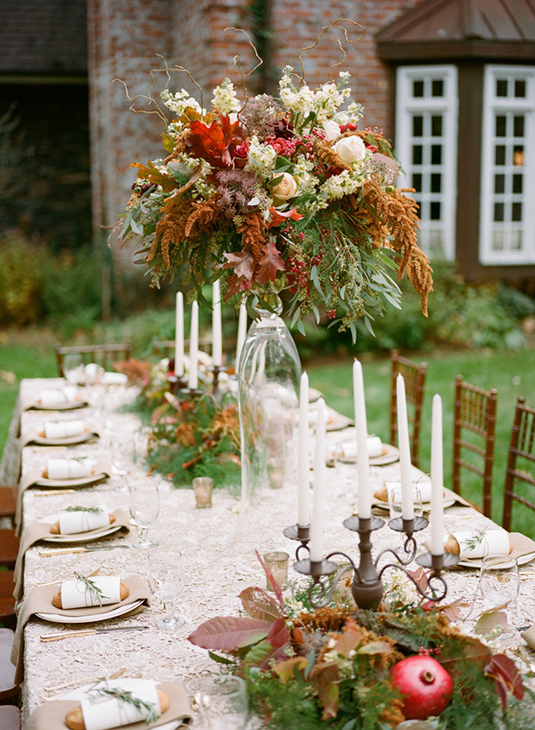 tall fall centerpiece