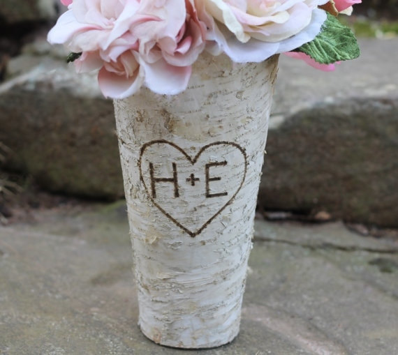 Personalized Birch Vase by MichelesCottage