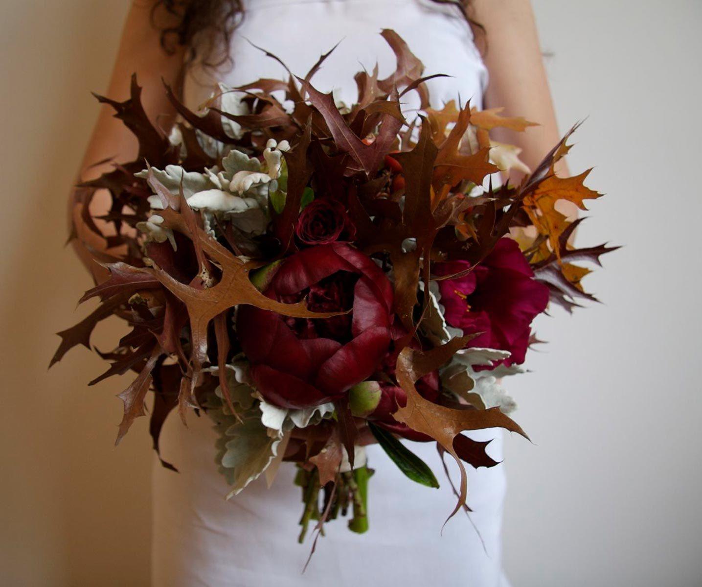 Unique Fall Leaves Bouquet