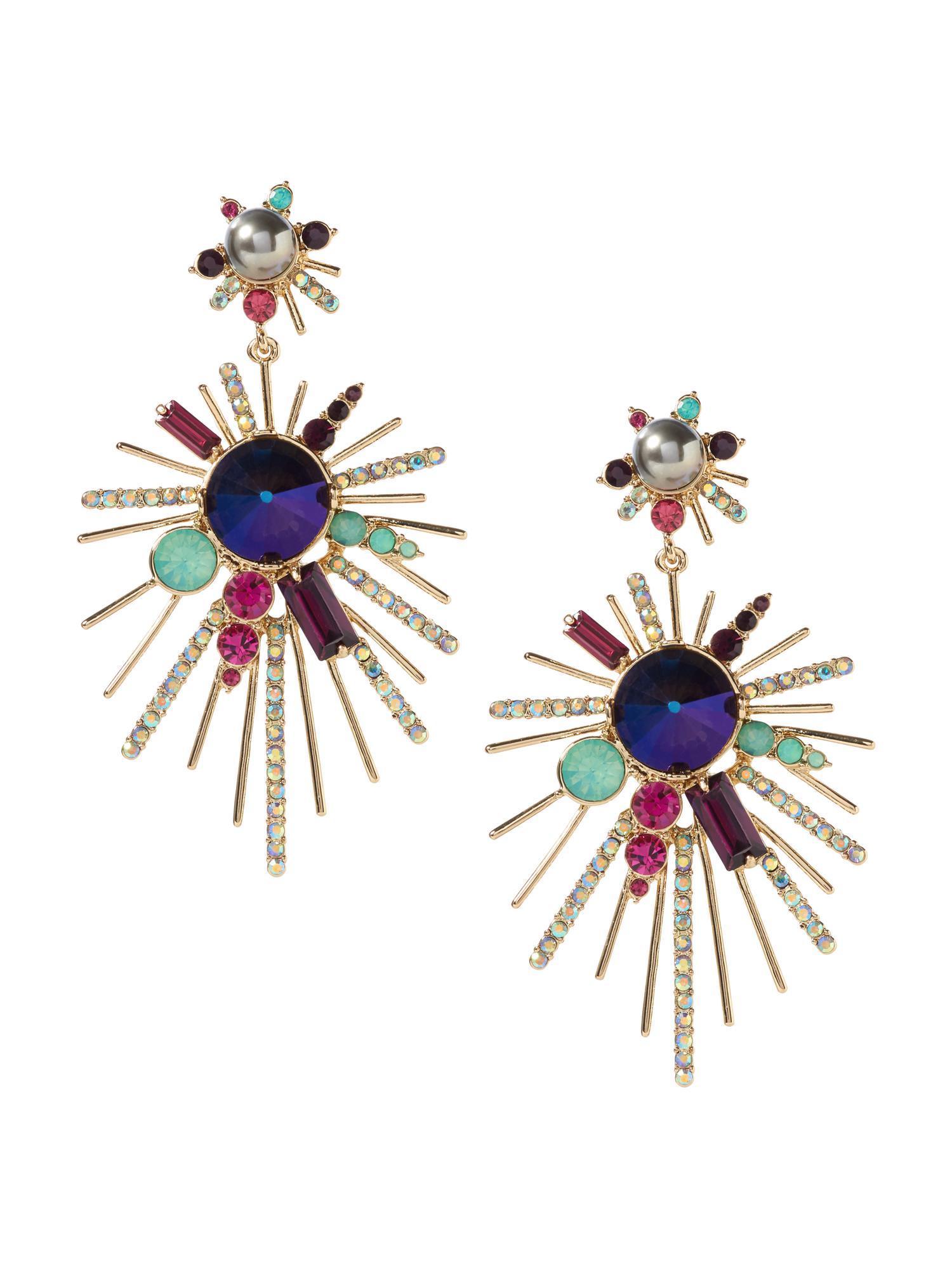 colorful starburst earrings