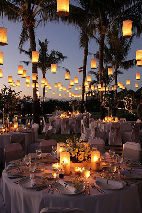 Statement With Wedding Lighting