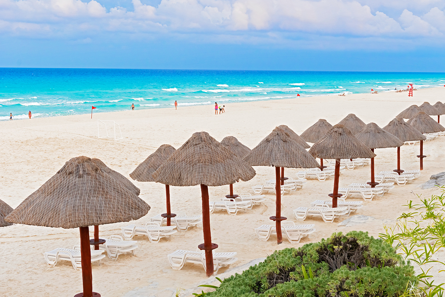 Cancún beach and resort