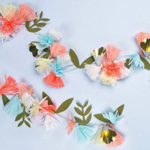 tropical paper garland