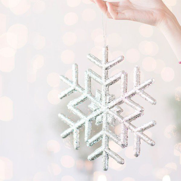 Glitter Snowflake Decoration