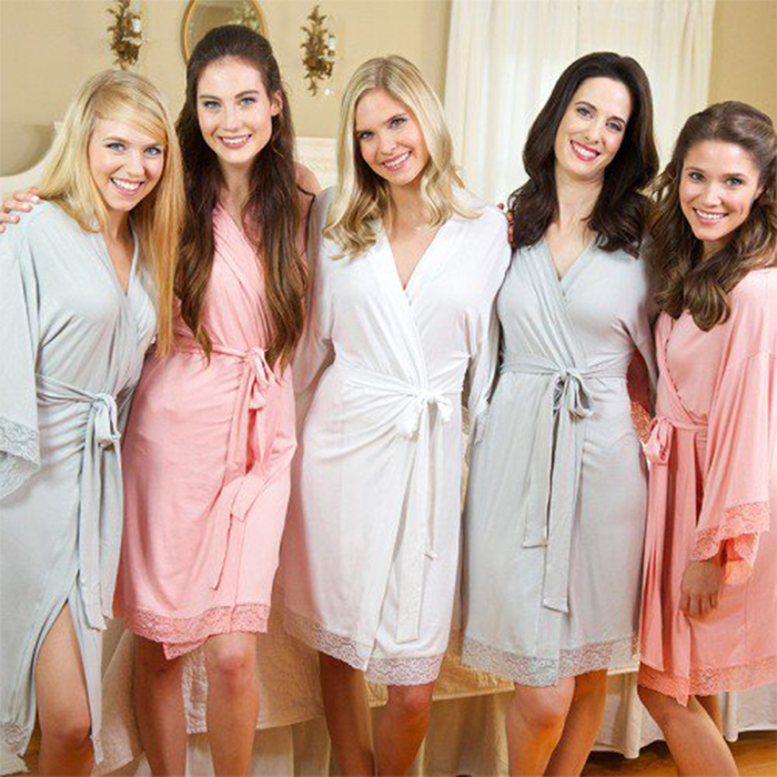 matching bridesmaid robes