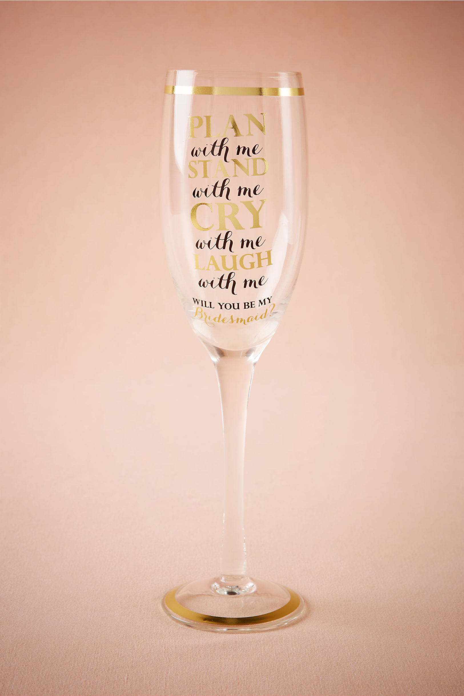 Plan With Me Bridesmaid Flute