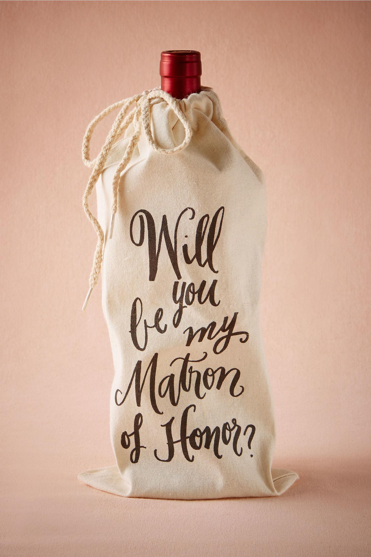 Matron of Honor Wine Bag